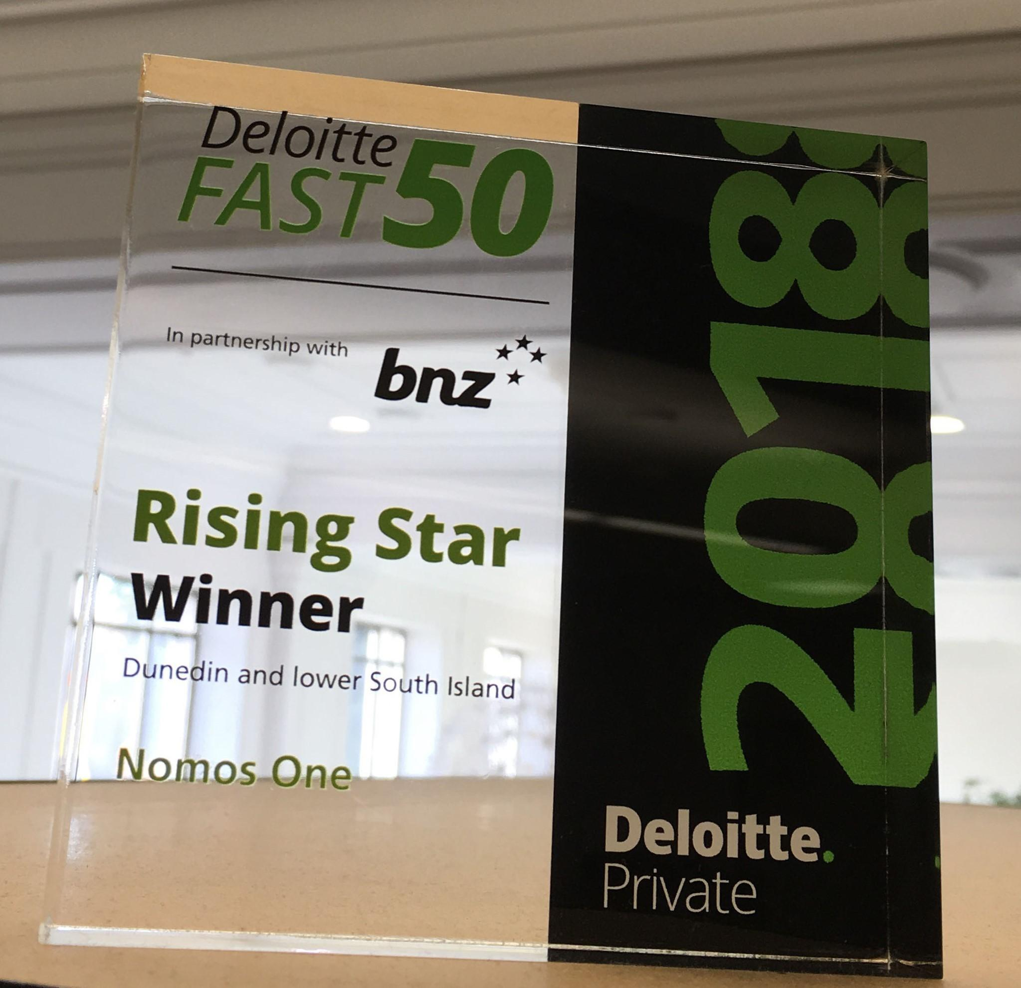 Nomos One takes out Rising Star Award at Deloitte Fast 50